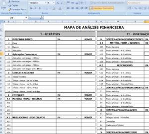 Planilha-Mapa-de-analise-financeira-Excel-XLS - Sistema de